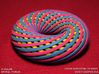 4-Color Spiral Torus 3d printed