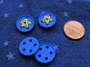 """5/8"""" five-holed buttons (dozen) 3d printed beta test printed in Royal Blue"""