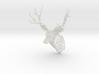 Wall deer (height 19.2cm/7.5In) 3d printed