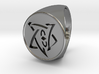 Elder Sign Signet Ring Size 11 3d printed