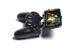 PS4 controller & Archos 50b Helium 4G 3d printed Side View - A Samsung Galaxy S3 and a black PS4 controller