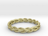 Ring of braided rope - size 9 3d printed