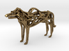 GeoHound Dog Pendant Keychain 3d printed