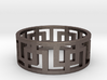 Geometric Ring - Mens ring in rugged steel  3d printed