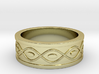 Ring with Eyes - Size 4 3d printed