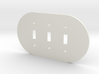 plodes® 3 Gang Toggle Switch Wall Plate 3d printed