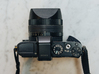 Stellated Grip for Sony RX1 / RX1R / RX1R ii 3d printed The installed grip - Top View