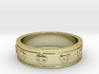 Ring with Skulls 3d printed