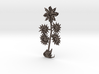 Flower-02 (steel) not existing on planet earth 3d printed