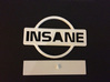 Nissan Insane Badge thinner version 2 3d printed