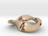 trefoil moebius pendant 3d printed