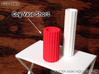 Cog Vase Short 1:12 scale 3d printed Orange Strong & Flexible Polished