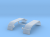 1/87th HO Truck Tandem Fenders Smooth Rounded 3d printed