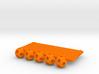 'Sprued' Tetrahedron #color 3d printed