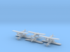 Caproni Ca.133 (6 Airplanes) 1/600 3d printed