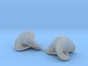 Boy Surface Earrings (pair) 3d printed