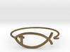 Wire Jesus Fish Bracelet (w/ Cross) 3d printed