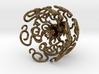 Flower Vine Jhumka - Indian Bell Earrings 3d printed