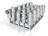 25 Chimney Pots 4mm scale OO Gauge 3d printed