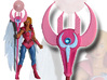MOTUC Royal Staff of Brightmoon 3d printed Painted Prototype printed in White Strong Flexible & Polished