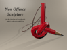 Non Offence Pendant 3d printed Non Offence Sculpture (Illustration)
