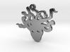 Medusa Head Necklace Pendant 3d printed