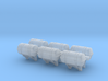 1:72 Life Boat Canister on Wall - Set of 6 3d printed