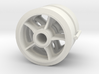 Two 1/16 scale 5 spoked M4 Sherman wheels  3d printed