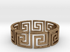 Greek Ring Brass - size 7.25 3d printed