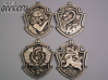 Slytherin House Crest - Pendant LARGE 3d printed Stainless Steel - small 5.3cm version