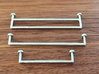 1:12 Towel rail small 3d printed Sprayed with chrome paint