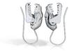 Fruit Bat Fishhook Earrings Pair 3d printed