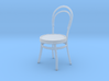 Miniature 1:48 Cafe Chair 3d printed