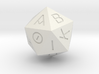D20 Greek 3d printed