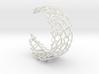 Voronoi Cuff Bracelet with Large Cells  3d printed