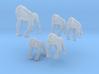 Gorillas - 1:220 (Z scale) 3d printed