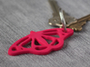 Viceroy Butterfly Pendant 3d printed Pink strong and flexible polished. Ring and keys not included.