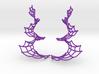Spiral Spider Web Earrings 3d printed