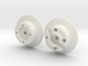 scale aircraft wheel hub 3d printed