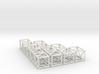 """20.5""""sq Box Truss Sampler 1:48 3d printed"""