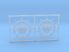 1:90 HMS Victory Ships Wheel 3d printed