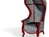 1:48 Quarter Scale Courtly Check Carrosse Chair 3d printed