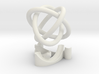 Borromean rings with stand 3d printed