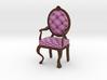 1:12 One Inch Scale PinkDark Oak Louis XVI Chair 3d printed