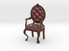 1:12 One Inch Scale MaroonDark Oak Louis XVI Chair 3d printed