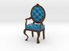 1:12 One Inch Scale RobinDark Oak Louis XVI Chair 3d printed