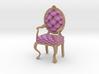 1:12 One Inch Scale PinkPale Oak Louis XVI Chair 3d printed