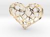 Voronoi heart 3d printed