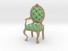 1:24 Half Inch Scale MintPale Oak Louis XVI Chair 3d printed