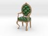 1:24 Half Inch Scale PinePale Oak Louis XVI Chair 3d printed